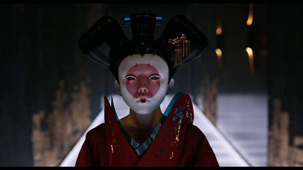 Robotyczna gejsza w scenach ze zwiastunu 'Ghost in the Shell'
