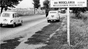 Ograniczenie wjazdu do Wrocławia podczas epidemii w 1963 roku