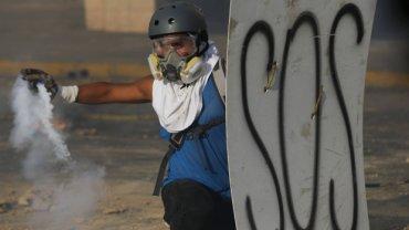 Trwające od kilku tygodni antyrządowe protesty w Caracas, Wenezuela