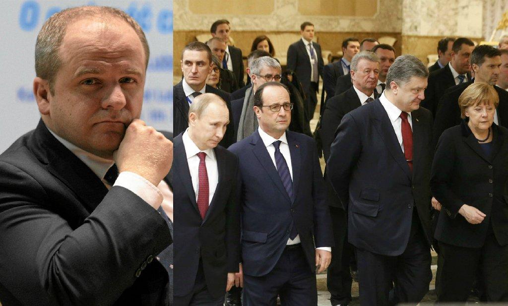 Paweł Kowal | Merkel, Hollande, Poroszenko i Putin na spotkaniu w Mińsku