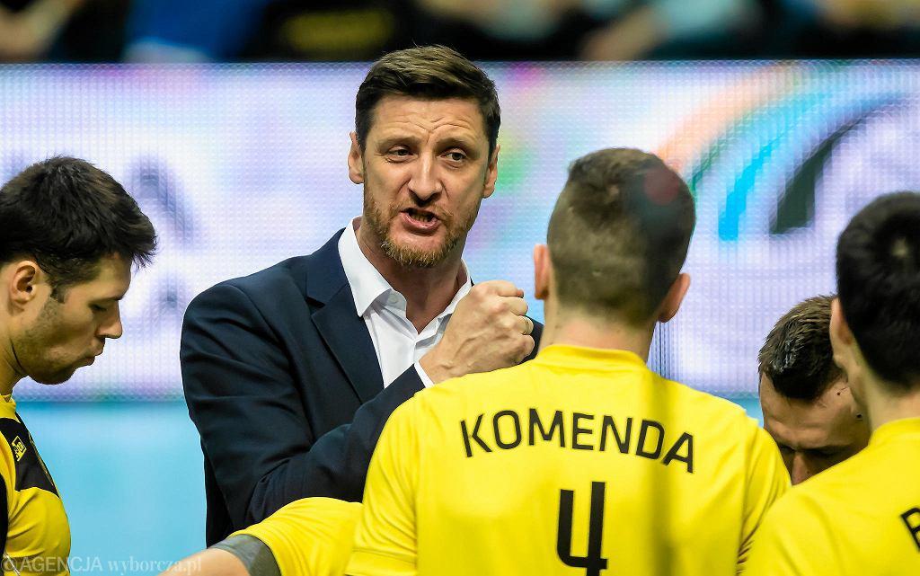 Piotr Gruszka i siatkarze GKS-u Katowice