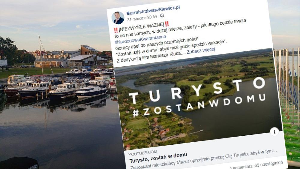 Na Mazurach problem z napływem turystów. Burmistrz Giżycka prosi o pomoc