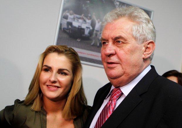 Katerina Zemanova i Milos Zeman
