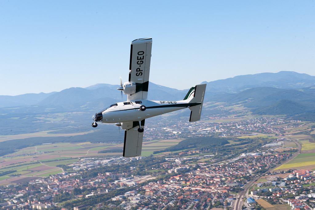 Samolot, który wykonywał pomiary
