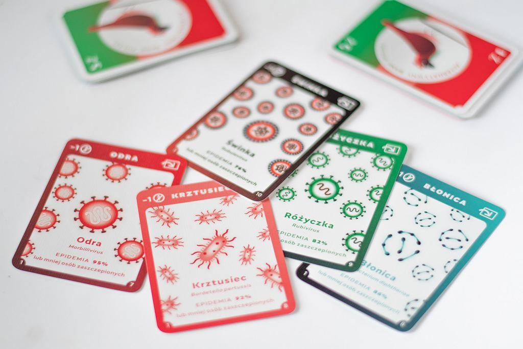 Karty z gry.