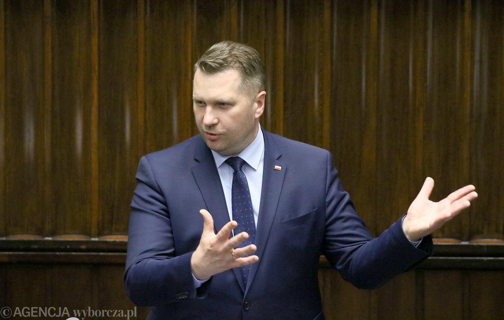 Minister edukacji Przemysław Czarnek