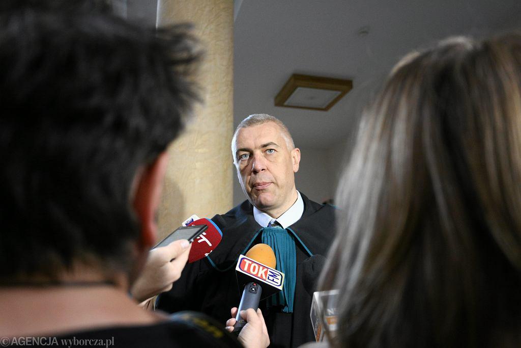 Proces Marka Falenty w sprawie afery podsluchowej - przed warszawskim Sadem Okregowym