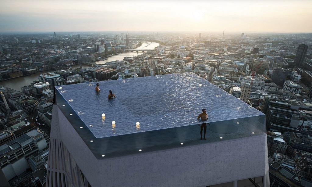 Basen na dachu powstającego budynku Infinity London