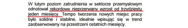 Wg badania PMI zatrudnienie w polskim przemyśle rośnie od 31 miesięcy