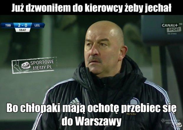 Zdjęcie numer 0 w galerii - Termalica Bruk-Bet Nieciecza - Legia Warszawa 3:0. Czerczesow: do Warszawy na piechotę [MEMY]
