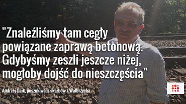 Andrzej Gaik, przewodnik i poszukiwacz skarbów z Wałbrzycha
