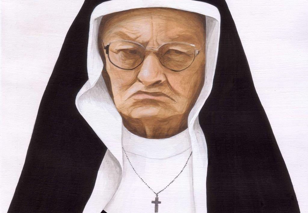 Siostra Bernadetta (rys. Anna Reinert)