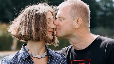 Białoruska aktywistka Polina Szarenda-Panasiuk z mężem Andrejem
