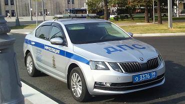 Radiowóz rosyjskiej policji (zdjęcie ilustracyjne)