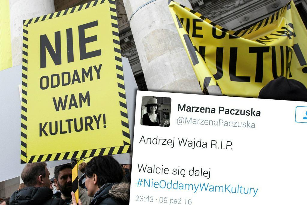 Wpis Marzeny Paczuskiej na Twitterze