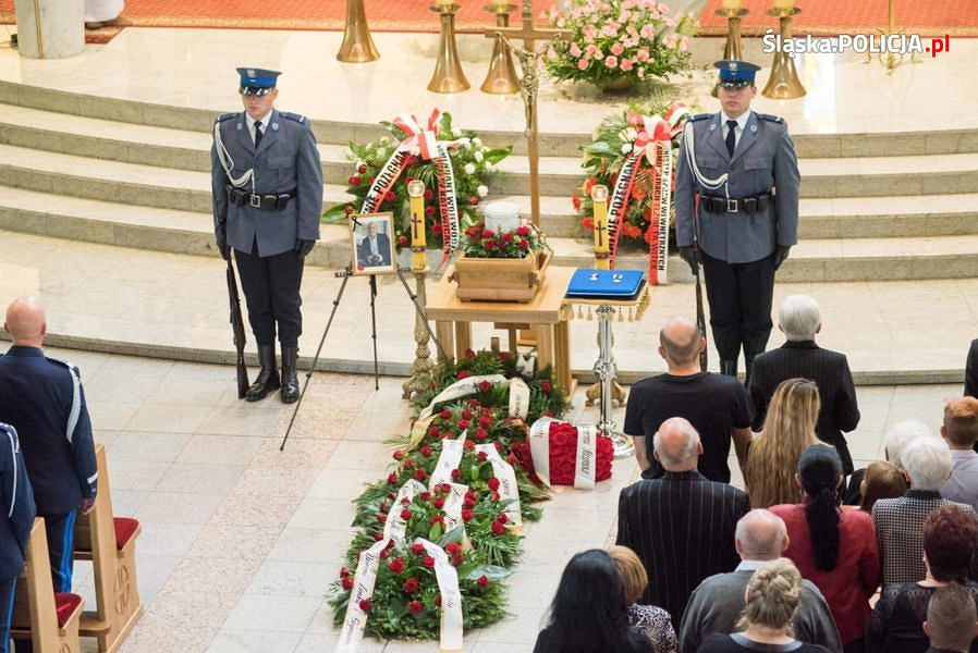 Pogrzeb podinsp. Krzysztofa Skowrona, Komendanta Powiatowego Policji w Mikołowie