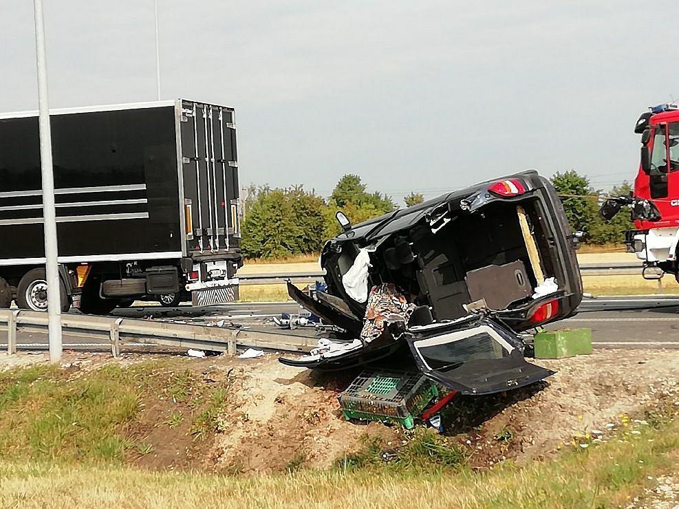 Pabianice: Tragiczny wypadek przy węźle Chechło II. Nie żyje 43-latek