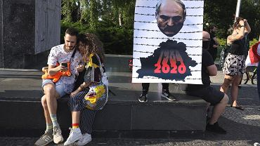 Demonstracja solidarności z Białorusią.