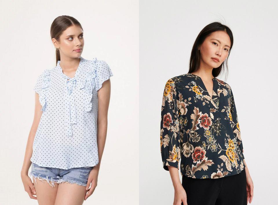 Bluzki w stylu retro - groszki i kwiaty