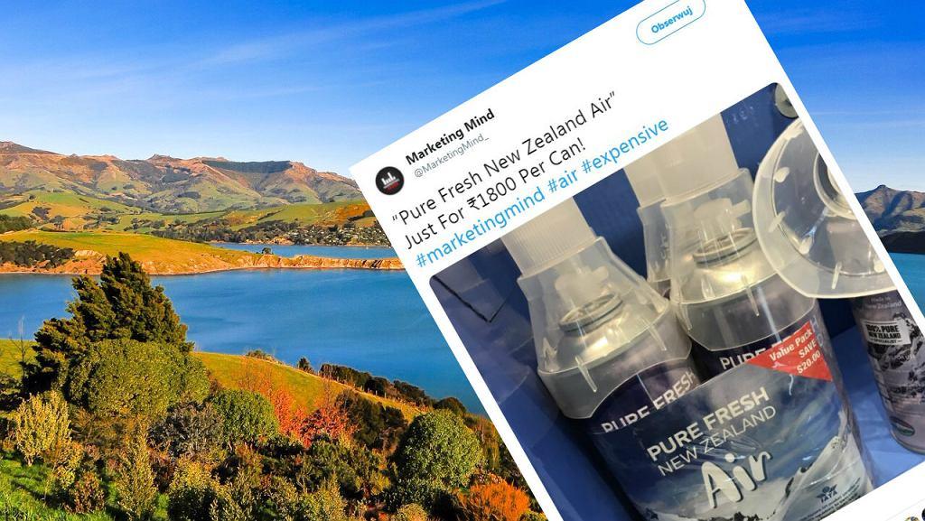 Od teraz turyści będą mogli przywieźć z Nowej Zelandii butelki wypełnione powietrzem.