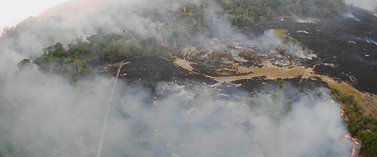 Ogromne pożary lasów w Amazonii.