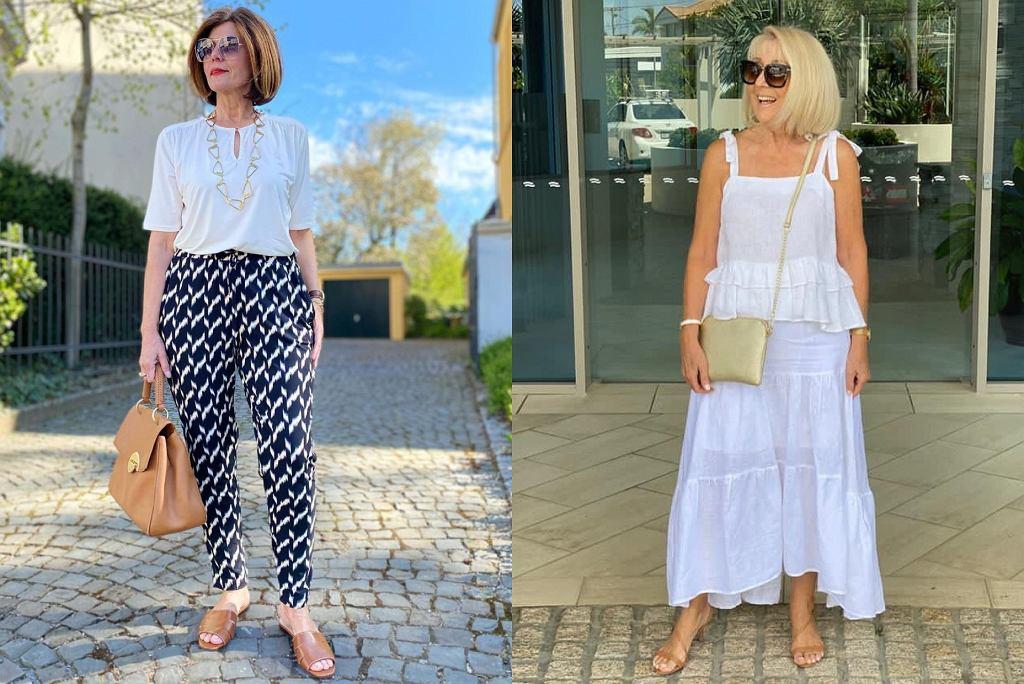 letnie bluzki dla kobiet po 50-tce
