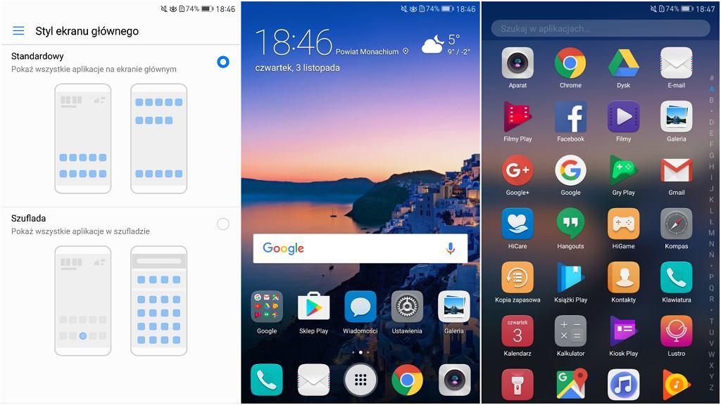 Włączenie szufladki na aplikacje w EMUI 5.0 na Huawei Mate 9