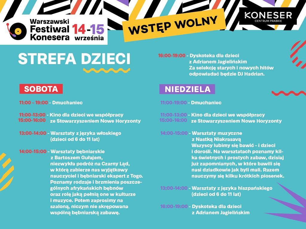 Warszawski Festiwal Konesera Strefa Dzieci / Centrum Praskie Koneser