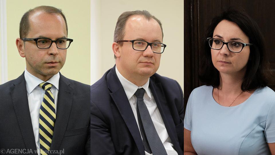 Poseł Michał Szczerba, Rzecznik Praw Obywatelskich Adam Bodnar i poseł Kamila Gasiuk - Pihowicz