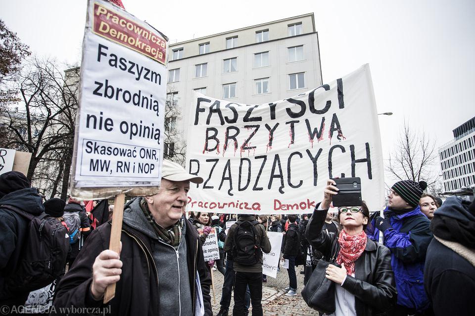 BDemonstracja Antyfaszystowska pod haslem Za wolnosc nasza i wasza