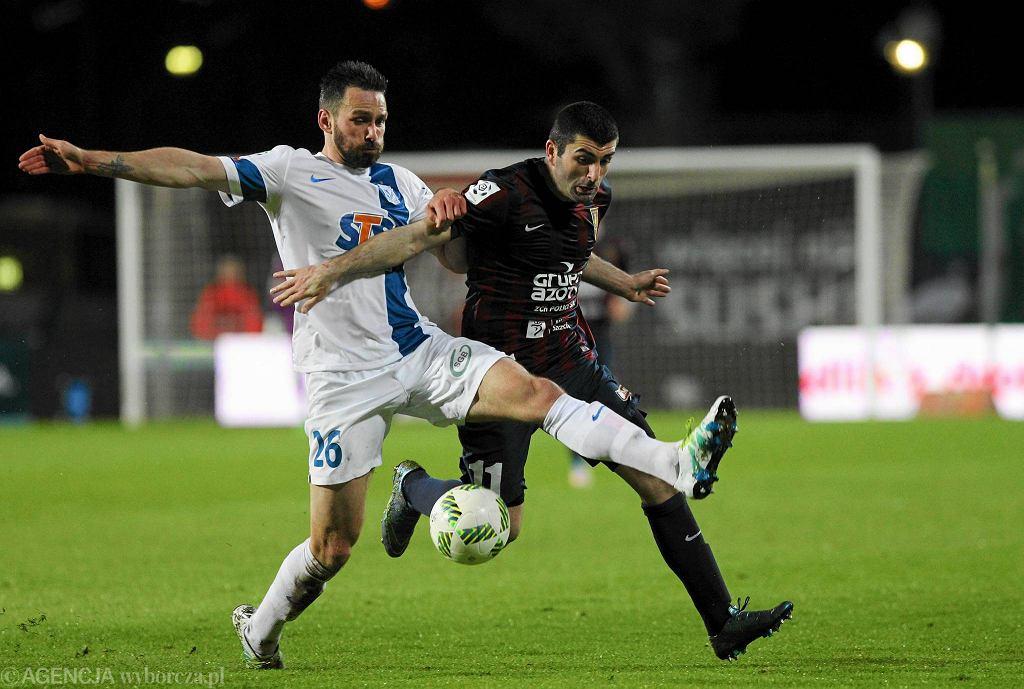 Pogoń Szczecin - Lech Poznań 1:0. Maciej Wilusz i Wladimer Dwaliszwili