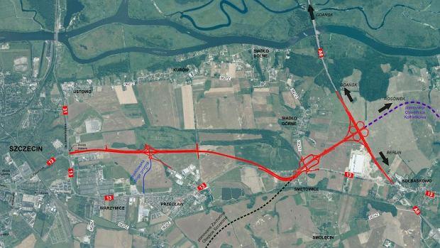 DK13, obwodnica Przecławia i Warzymic pod Szczecinem,