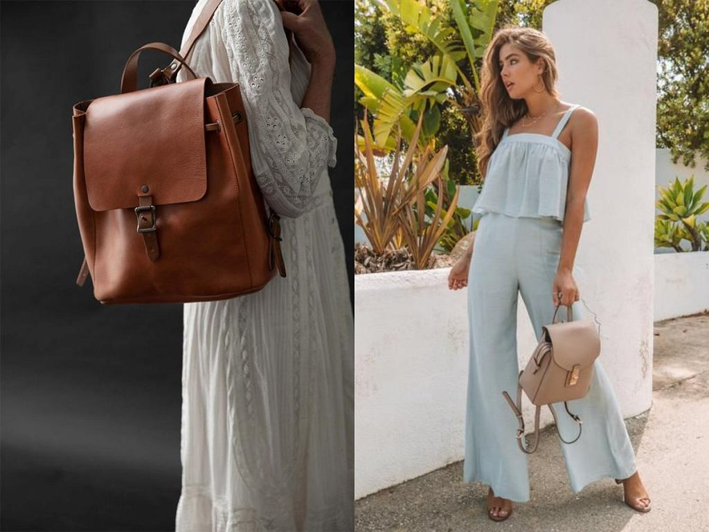Beżowe i brązowe plecaki damskie