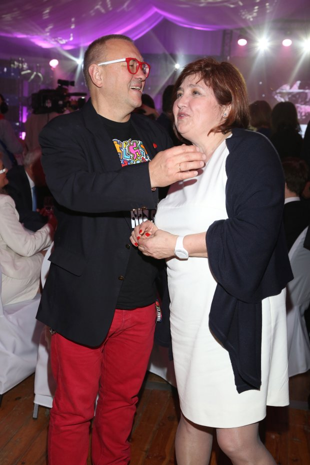 Jurek Owsiak i żona, Lidia Niedźwiedzka-Owsiak