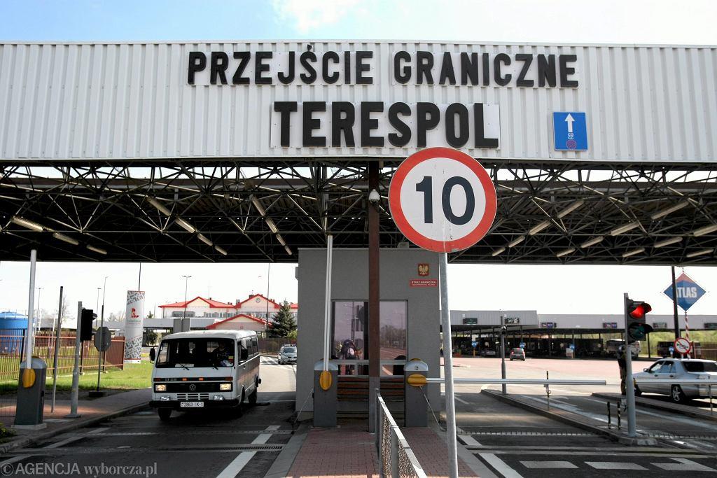 Przejście graniczne między Polską a Białorusią w Terespolu (zdjęcie ilustracyjne)