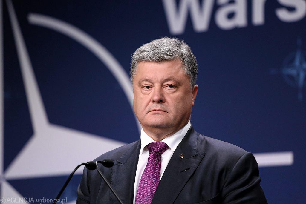 Petro Poroszenko podczas szczytu NATO w Warszawie w 2016 roku