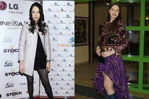 Anna Bałon przed i po złamaniu nogi, z powodu którego przez kilka tygodni nie ćwiczyła
