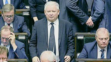 Jarosław Kaczyński podczas debaty po expose premier Beaty Szydlo, 18.11.2015