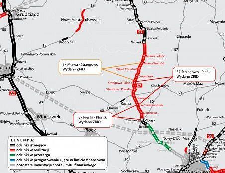 Kolejny odcinek trasy S7, krajowa 'siódemka'