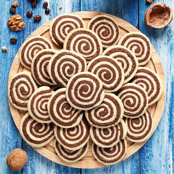 Ślimaczki, czyli ciasteczka kakaowo-waniliowe