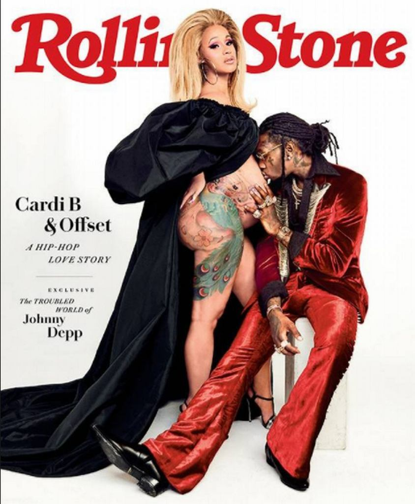 Cardi B i Offset na okładce 'Rolling Stones'