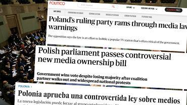 Zagraniczne media o 'lex TVN'