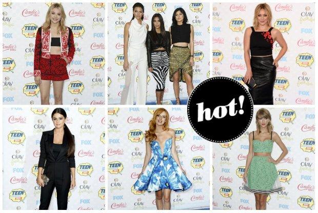 Jennifer Lopez, Kim Kardashian z siostrami, Taylor Swift oraz młode gwiazdy Hollywood na gali Teen Choice Awards 2014