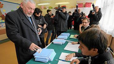 Prezydent Krakowa Jacek Majchrowski głosował w ubiegłą niedzielę w lokali przy ul. Fredry