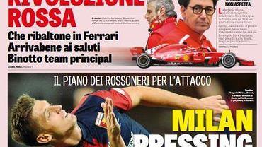 Krzysztof Piątek na okładce La Gazzetta dello Sport