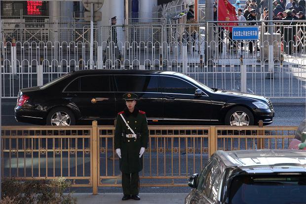 Limuzyna która przyjechał Kim Dzong-Un
