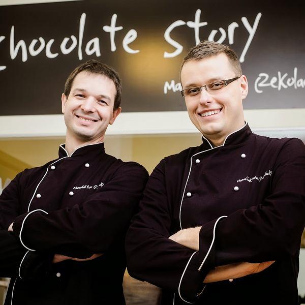 właściciele Manufaktury Czekolady Chocolate Story: od lewej Tomasz Sienkiewicz i Krzysztof Stypułkowski