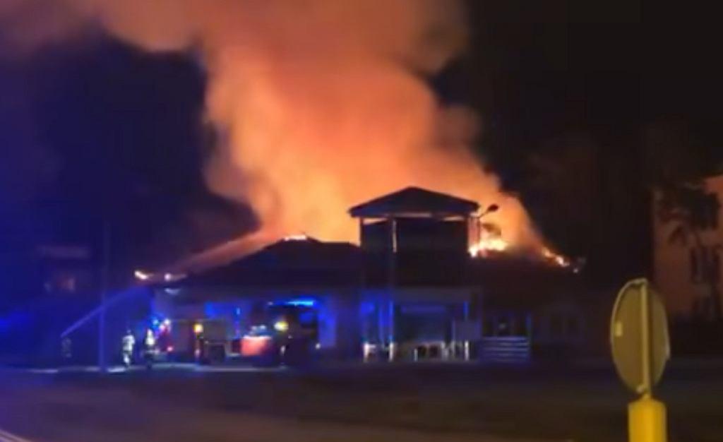 Pożar sklepu Netto