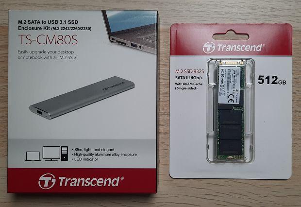 Zestaw SSD firmy  Transcend