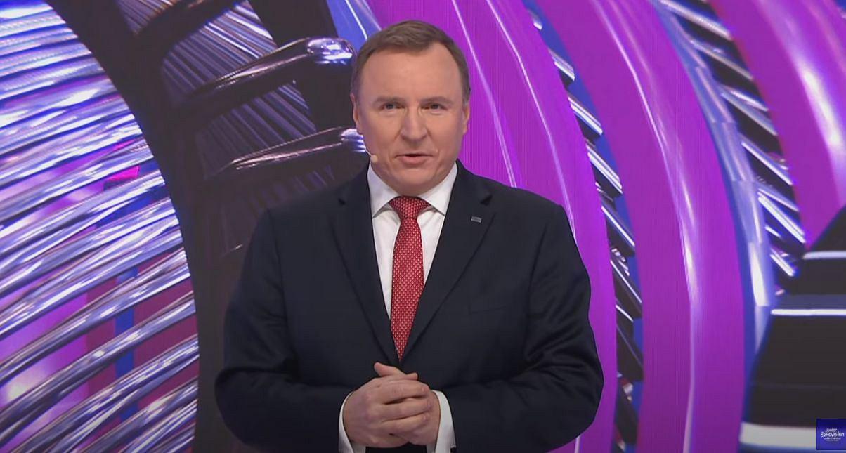 Eurowizja Junior 2020. Jacek Kurski przemówił po angielsku.